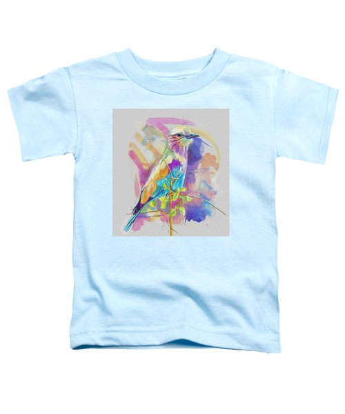 Bird On A Twig Toddler T-Shirt by Catf