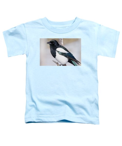 Black-billed Magpie Toddler T-Shirt by Eric Glaser