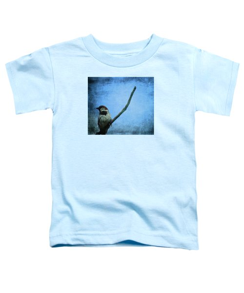 Sparrow On Blue Toddler T-Shirt by Dan Sproul