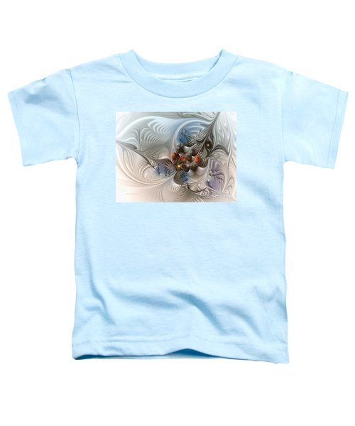Cloud Cuckoo Land-fractal Art Toddler T-Shirt by Karin Kuhlmann