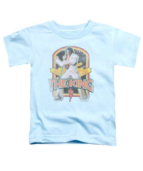 Elvis - Distressed King Toddler T-Shirt by Brand A