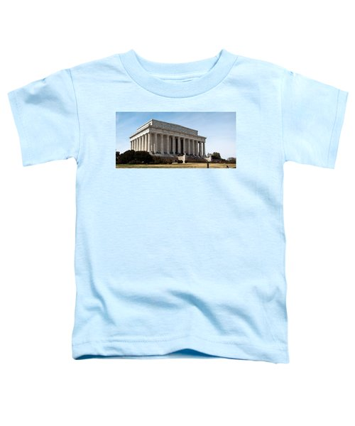 Facade Of The Lincoln Memorial, The Toddler T-Shirt by Panoramic Images