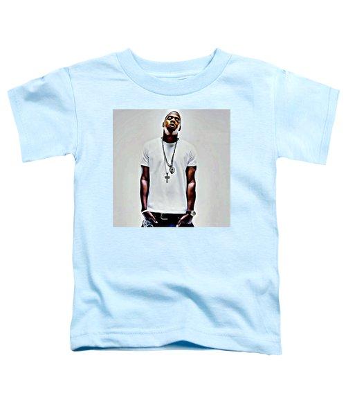 Jay-z Portrait Toddler T-Shirt by Florian Rodarte