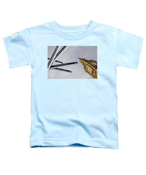 London Street Signs Toddler T-Shirt by David Smith