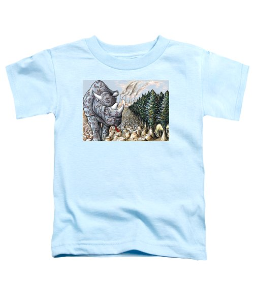 Money Against Nature - Cartoon Toddler T-Shirt by Art America Online Gallery