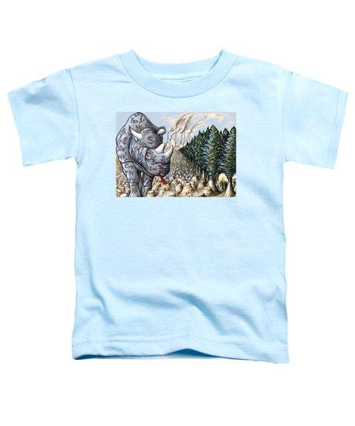 Money Against Nature - Cartoon Art Toddler T-Shirt by Art America Online Gallery