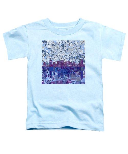 Nashville Skyline Abstract 8 Toddler T-Shirt by Bekim Art
