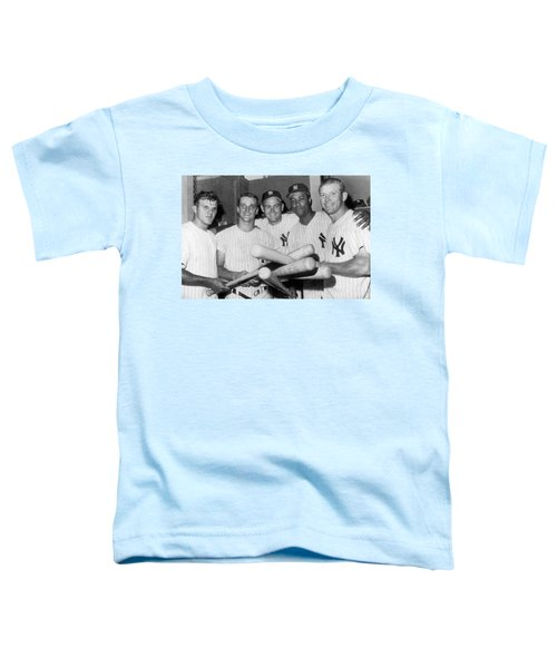 New York Yankee Sluggers Toddler T-Shirt by Underwood Archives