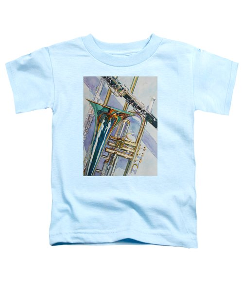 The Color Of Music Toddler T-Shirt by Jenny Armitage