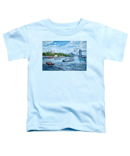 The Tower Of London Toddler T-Shirt by Steve Crisp