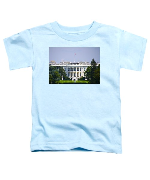 The Whitehouse - Washington Dc Toddler T-Shirt by Simon Wolter