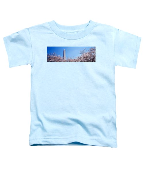 Washington Monument Behind Cherry Toddler T-Shirt by Panoramic Images