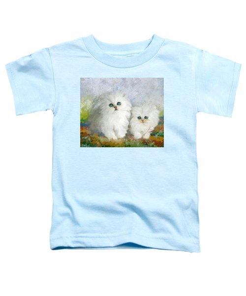 White Persian Kittens  Toddler T-Shirt by Catf
