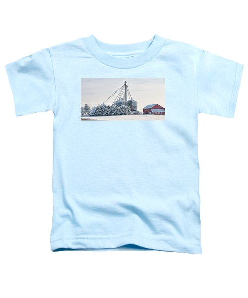 Winter Farm  7365 Toddler T-Shirt by Jack Schultz