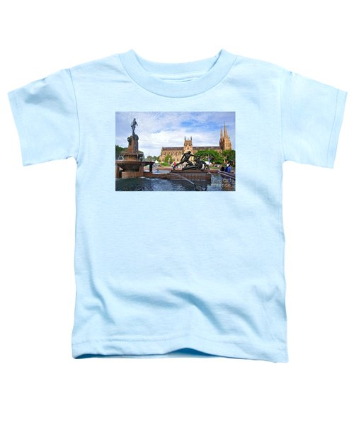 Hyde Park Fountain And St. Mary's Cathedral Toddler T-Shirt by Kaye Menner