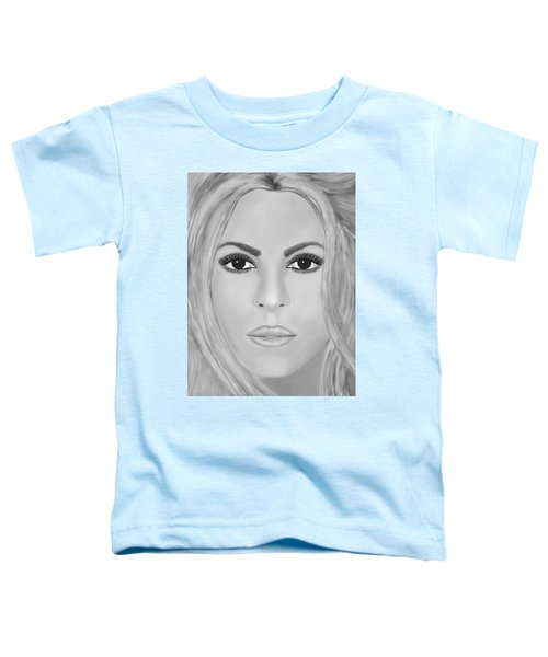 Shakira Black And White Toddler T-Shirt by Mathieu Lalonde
