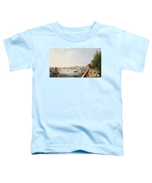 View Of The River Thames From The Adelphi Terrace  Toddler T-Shirt by William James