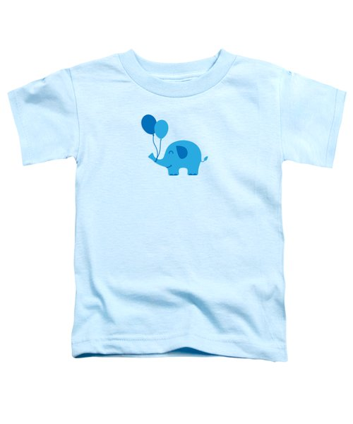 Sweet Funny Baby Elephant With Balloons Toddler T-Shirt by Philipp Rietz