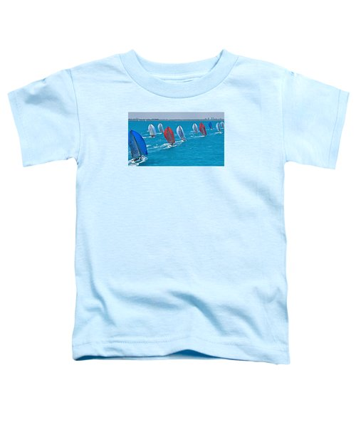 Miami Skyline Regatta Toddler T-Shirt by Steven Lapkin