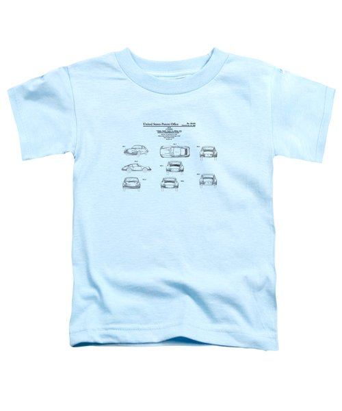 Porsche 911 Patent Toddler T-Shirt by Mark Rogan