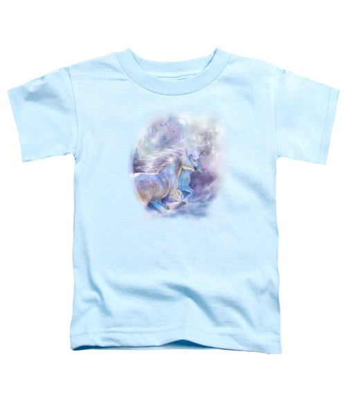 Unicorn Soulmates Toddler T-Shirt by Carol Cavalaris