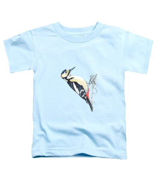 Great Spotted Woodpecker Toddler T-Shirt by Roy Pedersen