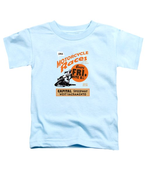 Motorcycle Speedway Races Toddler T-Shirt by Mark Rogan