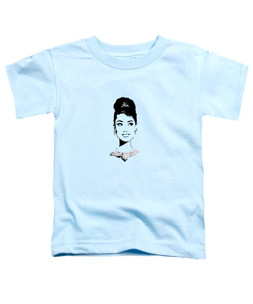 Audrey In Tiffany Blue Toddler T-Shirt by Rene Flores