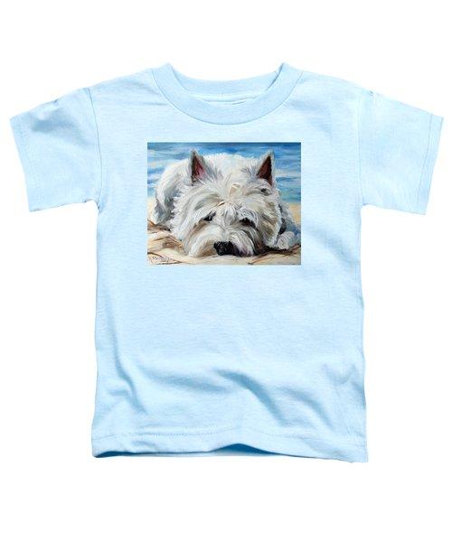 Beach Bum Toddler T-Shirt by Mary Sparrow