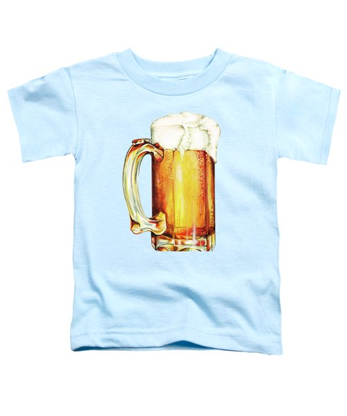 Beer Pattern Toddler T-Shirt by Kelly Gilleran