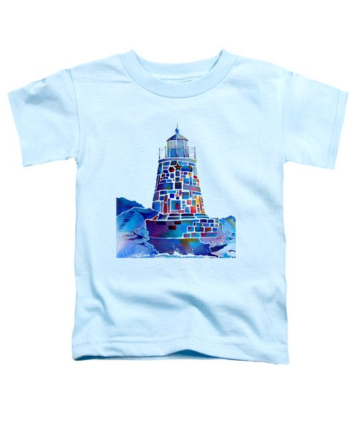 Castle Hill Newport Lighthouse Toddler T-Shirt by Jo Lynch