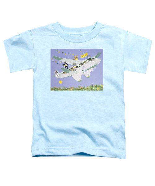 Cat Air Show Toddler T-Shirt by Pat Scott