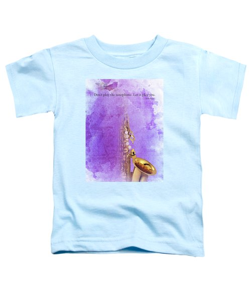 Charlie Parker Saxophone Purple Vintage Poster And Quote, Gift For Musicians Toddler T-Shirt by Pablo Franchi