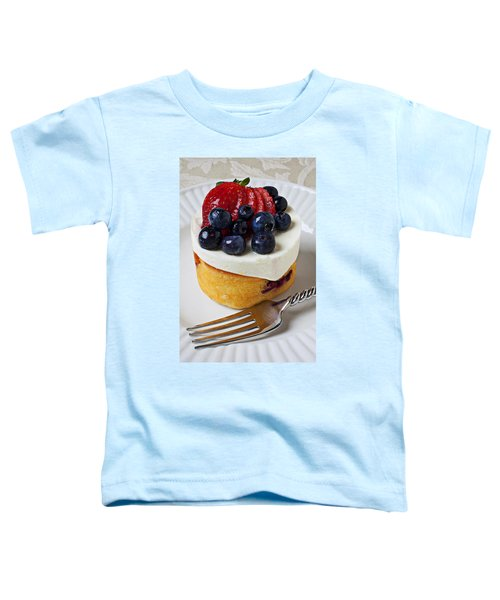 Cheese Cream Cake With Fruit Toddler T-Shirt by Garry Gay