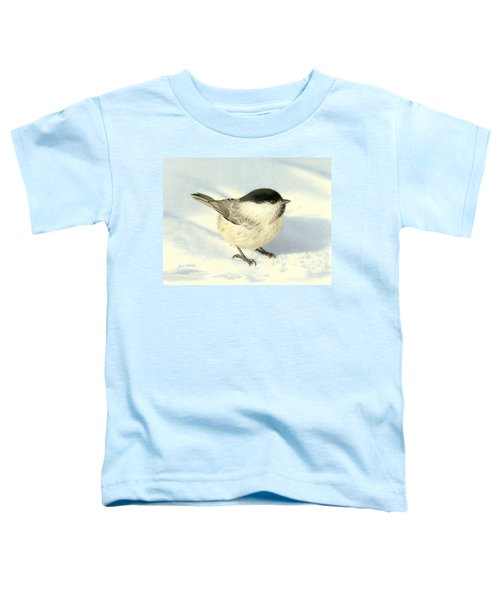 Chilly Chickadee Toddler T-Shirt by Sarah Batalka