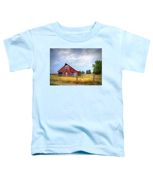 Christian School Road Barn Toddler T-Shirt by Cricket Hackmann