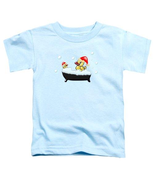 Christmas Ducks Toddler T-Shirt by Anastasiya Malakhova