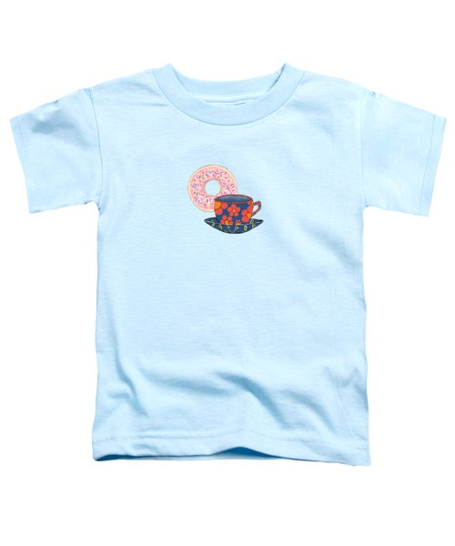 Coffee And Donuts Toddler T-Shirt by Kathleen Sartoris