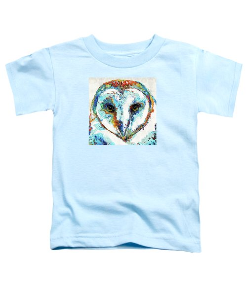 Colorful Barn Owl Art - Sharon Cummings Toddler T-Shirt by Sharon Cummings