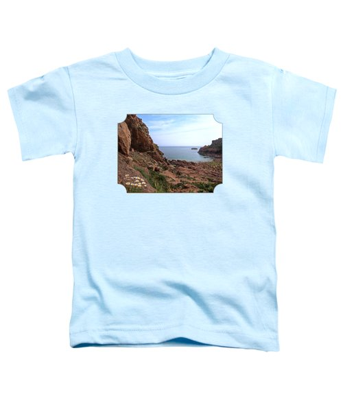 Daisies In The Granite Rocks At Corbiere Toddler T-Shirt by Gill Billington
