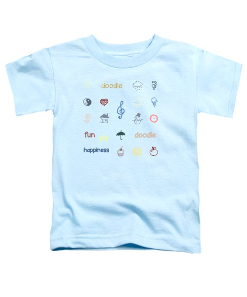 Doodle Toddler T-Shirt by Jutta Maria Pusl