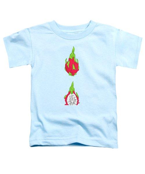 Dragon Fruit Toddler T-Shirt by Evgenia Chuvardina