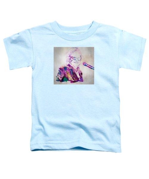 Elton John Toddler T-Shirt by Dan Sproul