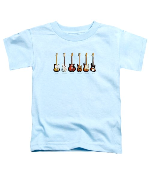 Fender Guitar Collection Toddler T-Shirt by Mark Rogan