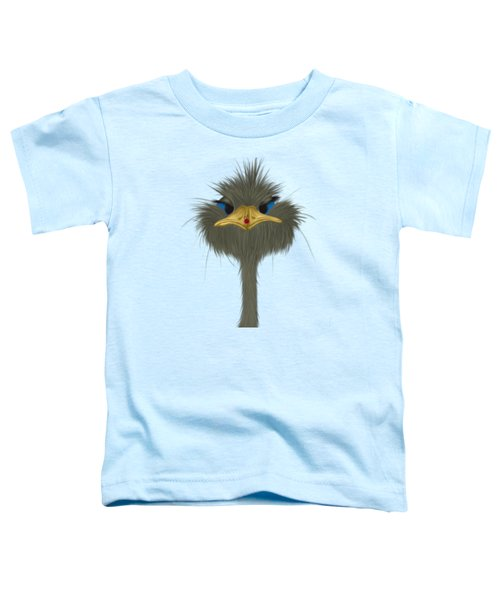 George And His Visitor  Toddler T-Shirt by Michelle Brenmark
