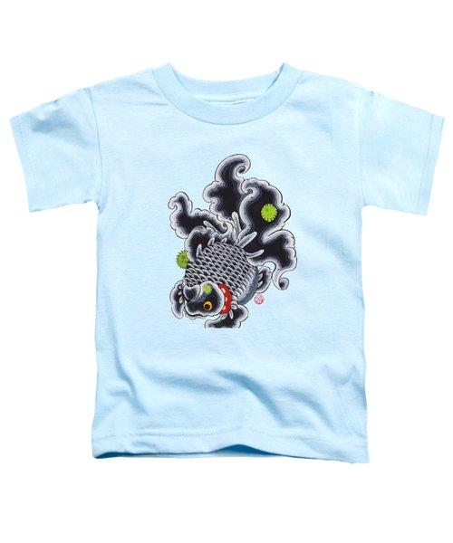 Goldfish Black Toddler T-Shirt by Shih Chang Yang