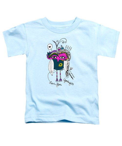 Goodnight Owl Toddler T-Shirt by Tara Griffin