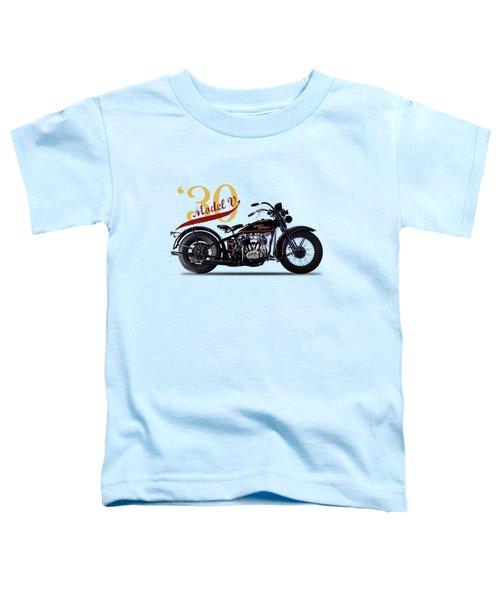 Harley-davidson Model V 1930 Toddler T-Shirt by Mark Rogan