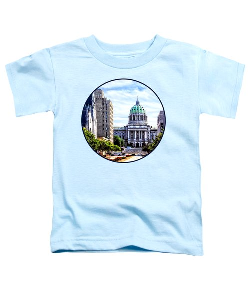 Harrisburg Pa - Capitol Building Seen From State Street Toddler T-Shirt by Susan Savad