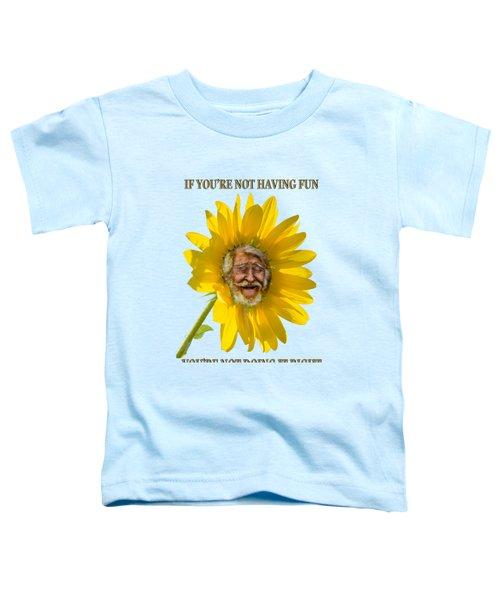 Having Fun Toddler T-Shirt by Rick Mosher